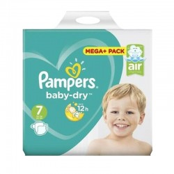 Pack 58 couches Pampers Baby Dry sur Couches Zone