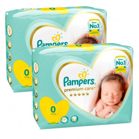 Pack 60 Couches Pampers New Baby Premium Care taille 0 sur Couches Zone