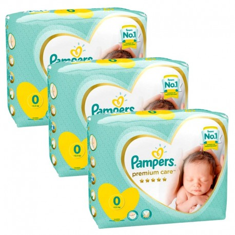 Giga Pack 90 Couches Pampers New Baby Premium Care taille 0 sur Couches Zone