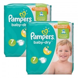 Giga Pack 60 Couches Pampers Baby Dry taille 7 sur Couches Zone