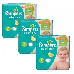 Giga Pack 120 Couches Pampers Baby Dry taille 7 sur Couches Zone