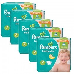 Giga Pack 210 Couches Pampers Baby Dry taille 7 sur Couches Zone