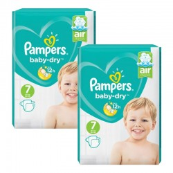 Giga Pack 144 Couches Pampers Baby Dry taille 7 sur Couches Zone