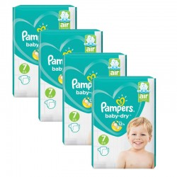 Maxi Pack 216 Couches Pampers Baby Dry taille 7 sur Couches Zone