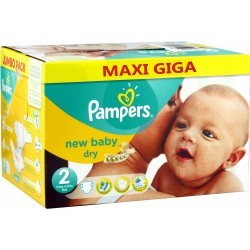 Giga pack 258 Couches Pampers New Baby Dry