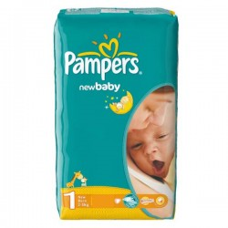 New Baby Dry - Pack de 43 Couches Pampers taille 1