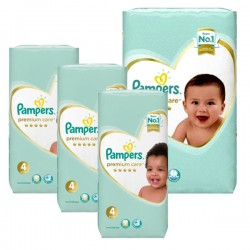 Maxi mega pack 408 Couches Pampers New Baby Premium Care taille 4 sur Couches Zone