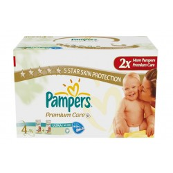 Pack 68 Couches Pampers New Baby Premium Care taille 4 sur Couches Zone