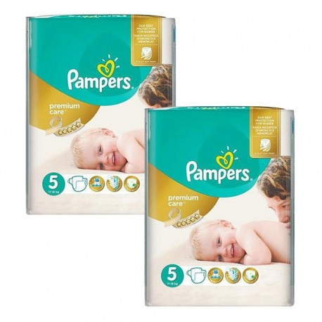 Maxi giga pack 360 Couches Pampers Premium Care taille 5 sur Couches Zone