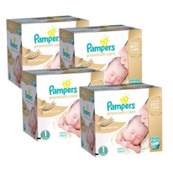 Maxi mega pack 440 Couches Pampers Premium Care taille 1 sur Couches Zone
