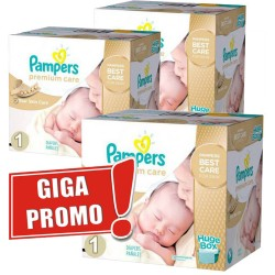Pack jumeaux 528 Couches Pampers Premium Care taille 1