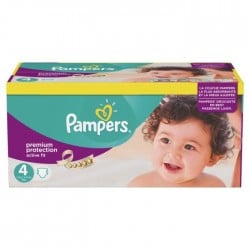 Active Fit - Pack de 168 Couches Pampers taille 4 sur Couches Zone
