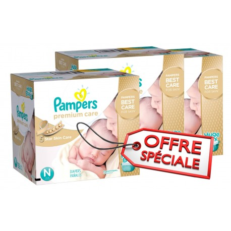 Pack jumeaux 704 Couches Pampers Premium Care taille 1 sur Couches Zone