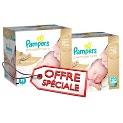 Pack jumeaux 792 Couches Pampers Premium Care taille 1 sur Couches Zone