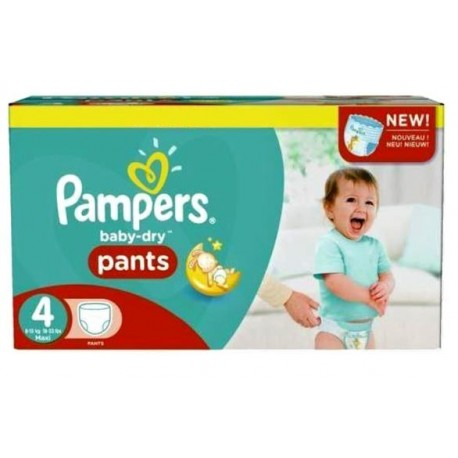 Pack 58 Couches Pampers Baby Dry Pants taille 4 sur Couches Zone