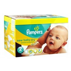 Mega pack 172 Couches Pampers New Baby Dry