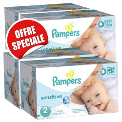 Maxi giga pack 300 Couches Pampers New Baby Sensitive sur Couches Zone