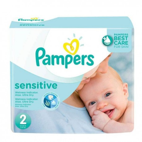 Maxi mega pack 420 Couches Pampers New Baby Sensitive sur Couches Zone
