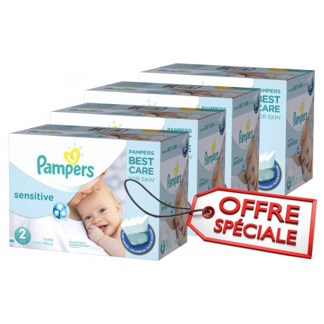 Pack jumeaux 600 Couches Pampers New Baby Sensitive sur Couches Zone
