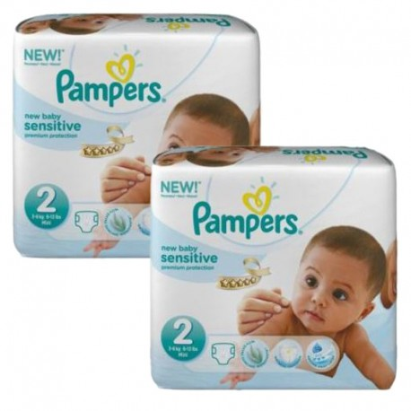 Pack jumeaux 660 Couches Pampers New Baby Sensitive sur Couches Zone