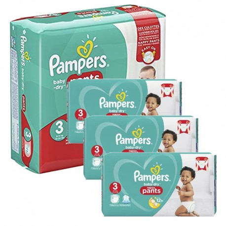 Maxi mega pack 400 Couches Pampers Baby Dry Pants taille 3 sur Couches Zone