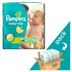 Giga pack 246 Couches Pampers Baby Dry taille 4+ sur Couches Zone