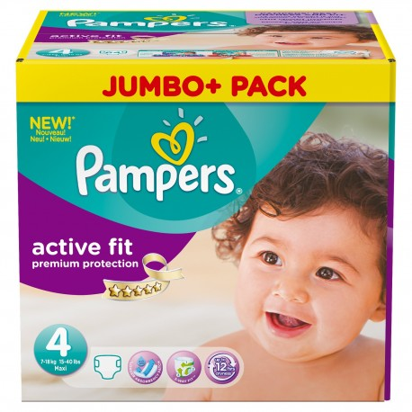 Giga pack 246 Couches Pampers Active Fit Premium Protection taille 4 sur Couches Zone