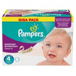 Maxi giga pack 328 Couches Pampers Active Fit Premium Protection taille 4 sur Couches Zone