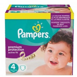 Maxi mega pack 410 Couches Pampers Active Fit Premium Protection taille 4
