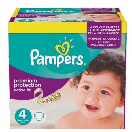 Maxi mega pack 410 Couches Pampers Active Fit Premium Protection taille 4 sur Couches Zone