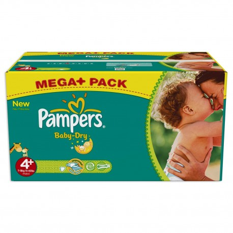 Giga pack 287 Couches Pampers Baby Dry taille 4+ sur Couches Zone