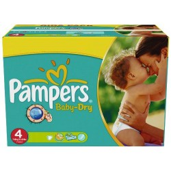 Mega pack 176 Couches Pampers Baby Dry taille 4 sur Couches Zone