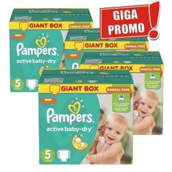 Mega pack 174 Couches Pampers Active Baby Dry