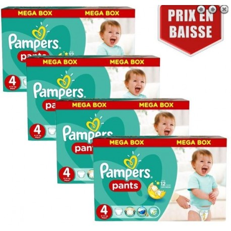 Pack jumeaux 522 Couches Pampers Baby Dry Pants taille 4 sur Couches Zone