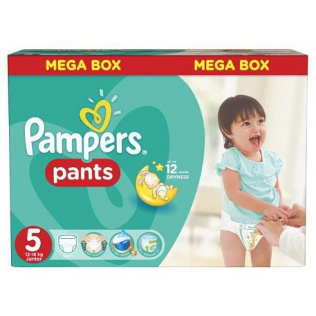 Mega pack 182 Couches Pampers Baby Dry Pants taille 5 sur Couches Zone