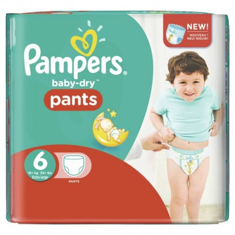 Pack 23 Couches Pampers Baby Dry Pants taille 6 sur Couches Zone