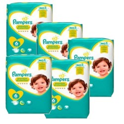 Maxi mega pack 456 Couches Pampers New Baby Premium Protection taille 6 sur Couches Zone
