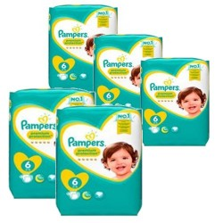 Pack jumeaux 532 Couches Pampers New Baby Premium Protection taille 6 sur Couches Zone