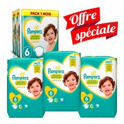 Pack jumeaux 608 Couches Pampers New Baby Premium Protection taille 6 sur Couches Zone