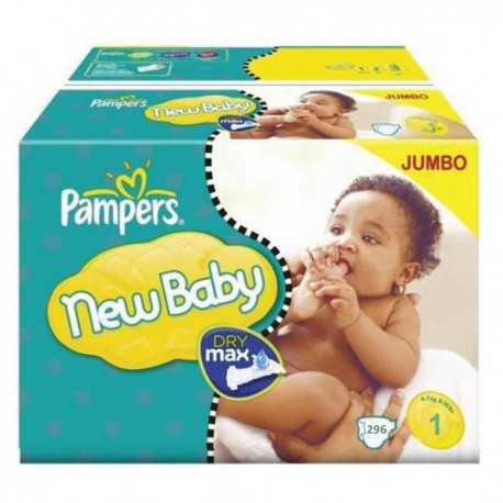 Pack jumeaux 672 Couches Pampers New Baby Premium Protection taille 1 sur Couches Zone