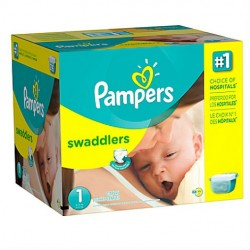 Pack jumeaux 768 Couches Pampers New Baby Premium Protection taille 1