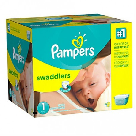 Pack jumeaux 768 Couches Pampers New Baby Premium Protection taille 1 sur Couches Zone
