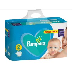 Pack 94 Couches Pampers Active Baby Dry taille 2 sur Couches Zone