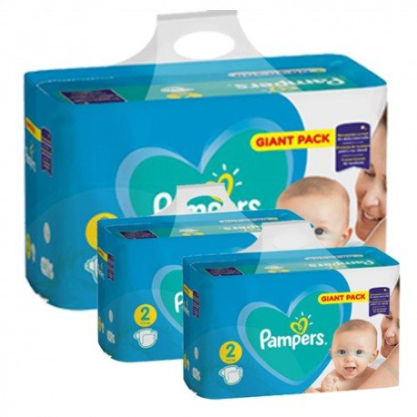 Giga pack 282 Couches Pampers Active Baby Dry taille 2 sur Couches Zone