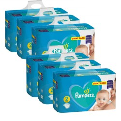 Maxi giga pack 376 Couches Pampers Active Baby Dry taille 2 sur Couches Zone