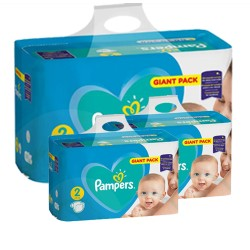 Pack jumeaux 658 Couches Pampers Active Baby Dry taille 2 sur Couches Zone