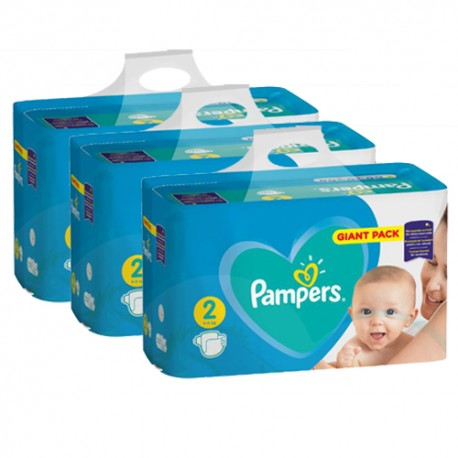 Pack jumeaux 752 Couches Pampers Active Baby Dry taille 2 sur Couches Zone