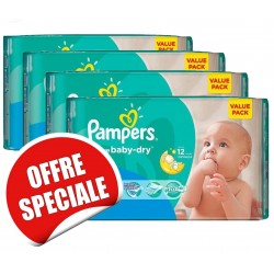 Mega pack 164 Couches Pampers Active Baby Dry taille 3 sur Couches Zone