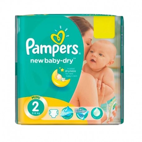 Mega pack 144 Couches Pampers New Baby Dry taille 2 sur Couches Zone