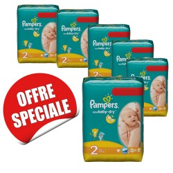 Maxi mega pack 432 Couches Pampers New Baby Dry taille 2 sur Couches Zone